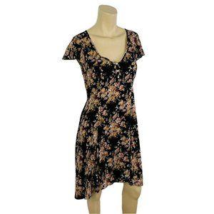 Denim & Supply RALPH LAUREN Floral Dress 8 Black